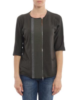 Fabiana Filippi: cardigans online - Embellished zipped cardigan