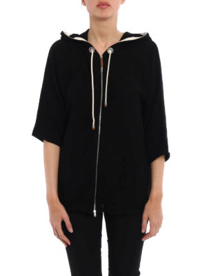 Fabiana Filippi: cardigans online - Hoodie inspired cotton cardigan