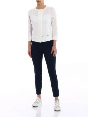 Fabiana Filippi: cardigans online - Light spot detail white cardigan