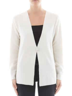 Fabiana Filippi: cardigans online - One button Platinum blend cardigan