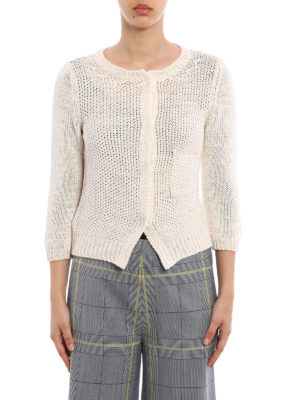 Fabiana Filippi: cardigans online - Pocket detail cotton cardigan