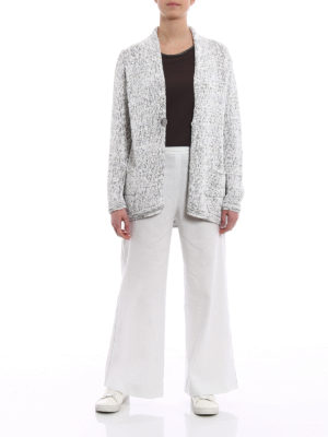 Fabiana Filippi: cardigans online - Rubberized cotton ribbon cardigan