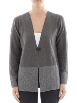Fabiana Filippi: cardigans online - Two-tone Platinum blend cardigan