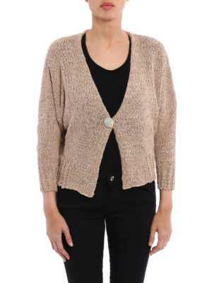 Fabiana Filippi: cardigans online - Uneven knitted cotton crop cardigan