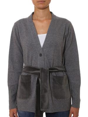 Fabiana Filippi: cardigans online - Wool cardigan with velvet pockets