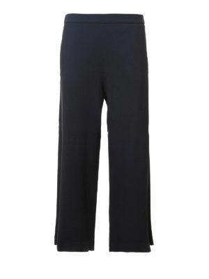 Fabiana Filippi: casual trousers - Cady crepe flared crop trousers