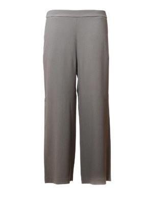 Fabiana Filippi: casual trousers - Cady crepe flared crop trousers