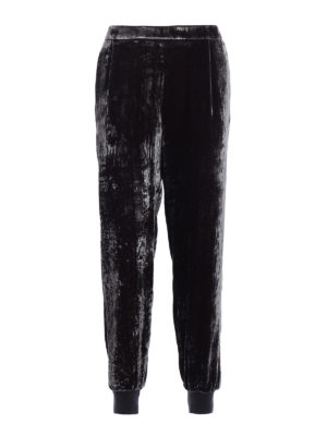 Fabiana Filippi: casual trousers - Chenille trousers with darts