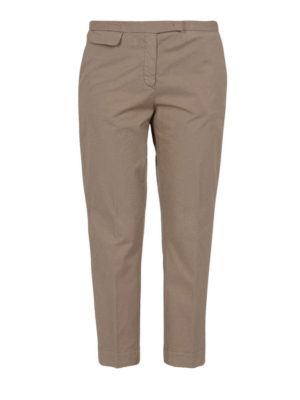 Fabiana Filippi: casual trousers - Cigarette cotton trousers