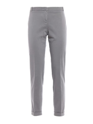 Fabiana Filippi: casual trousers - Cotton twill cigarette trousers