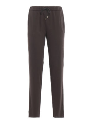 Fabiana Filippi: casual trousers - Gubbio jogging fit jersey trousers