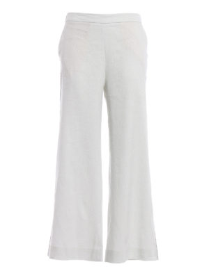 Fabiana Filippi: casual trousers - Linen and cotton palazzo trousers