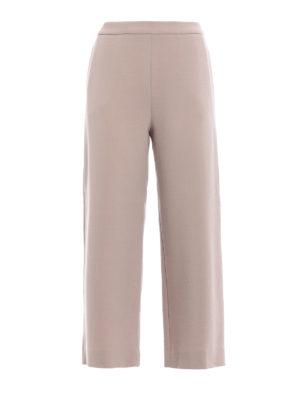Fabiana Filippi: casual trousers - Merino wool crepe baggy pants