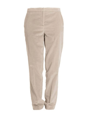 Fabiana Filippi: casual trousers - Montefalco velvet tapered trousers