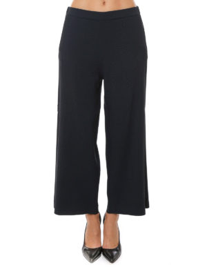 Fabiana Filippi: casual trousers online - Cady crepe flared crop trousers