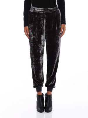 Fabiana Filippi: casual trousers online - Chenille trousers with darts