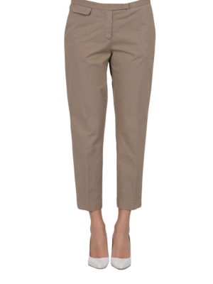 Fabiana Filippi: casual trousers online - Cigarette cotton trousers