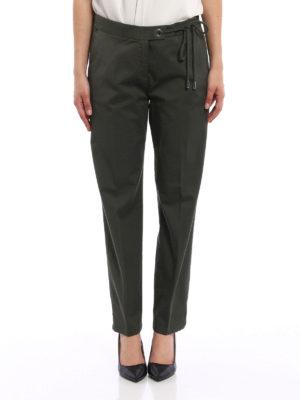 Fabiana Filippi: casual trousers online - Cotton chino trousers