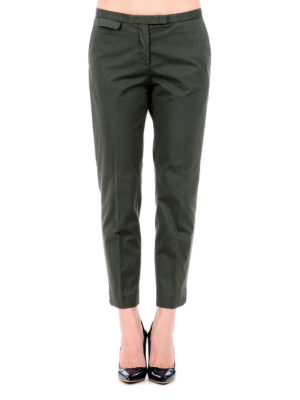 Fabiana Filippi: casual trousers online - Cotton crop trousers