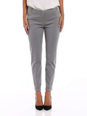Fabiana Filippi: casual trousers online - Cotton twill cigarette trousers