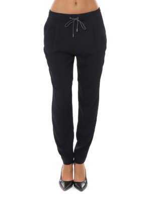Fabiana Filippi: casual trousers online - Lightweight silk trousers