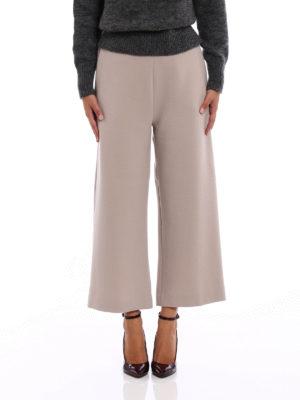 Fabiana Filippi: casual trousers online - Merino wool crepe baggy pants
