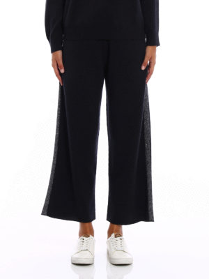 Fabiana Filippi: casual trousers online - Merino wool palazzo trousers