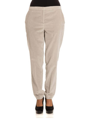 Fabiana Filippi: casual trousers online - Montefalco velvet tapered trousers