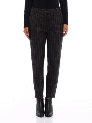 Fabiana Filippi: casual trousers online - Pinstriped merino blend trousers