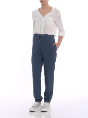 Fabiana Filippi: casual trousers online - Spello fluid crepe jogging pants