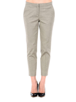 Fabiana Filippi: casual trousers online - Textured cotton crop trousers