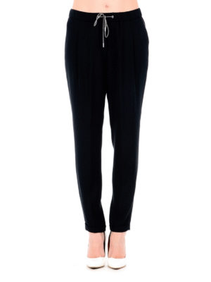 Fabiana Filippi: casual trousers online - Viscose crepe pull-on trousers