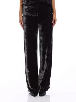 Fabiana Filippi: casual trousers online - Viscose velvet baggy pants