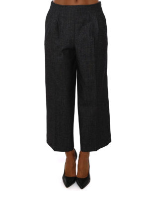 Fabiana Filippi: casual trousers online - Wool cashmere blend trousers