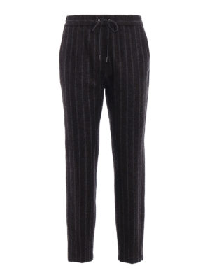 Fabiana Filippi: casual trousers - Pinstriped merino blend trousers