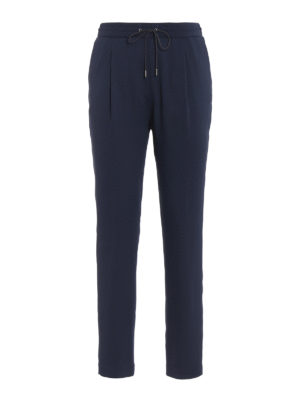 Fabiana Filippi: casual trousers - Spello blue jogging pants