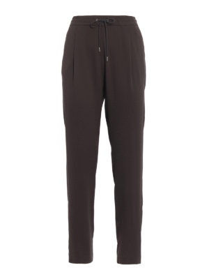 Fabiana Filippi: casual trousers - Spello brown jogging pants
