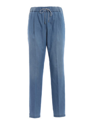 Fabiana Filippi: casual trousers - Spello cotton and cashmere trousers