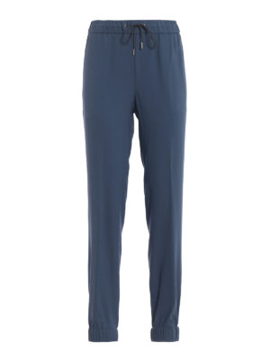 Fabiana Filippi: casual trousers - Spello fluid crepe jogging pants