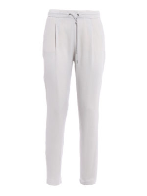 Fabiana Filippi: casual trousers - Spello light grey jogging pants