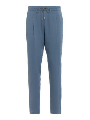 Fabiana Filippi: casual trousers - Spello pull on crepe trousers