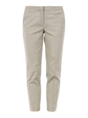 Fabiana Filippi: casual trousers - Textured cotton crop trousers