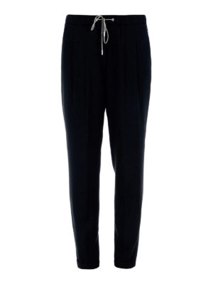 Fabiana Filippi: casual trousers - Viscose crepe pull-on trousers