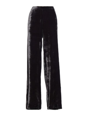 Fabiana Filippi: casual trousers - Viscose velvet baggy pants