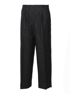 Fabiana Filippi: casual trousers - Wool cashmere blend trousers