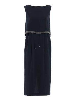 Fabiana Filippi: cocktail dresses - Embellished top silk dress