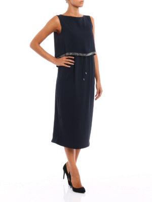 Fabiana Filippi: cocktail dresses online - Embellished top silk dress