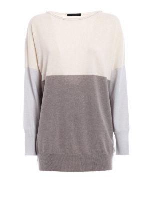 Fabiana Filippi: crew necks - Colour block oversize pullover