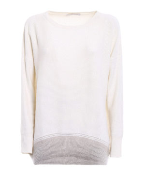 Fabiana Filippi: crew necks - Embellished merino blend sweater