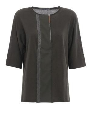Fabiana Filippi: crew necks - Embellished zipped crewneck sweater